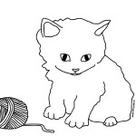 Kitty Cat Coloring Pages Image