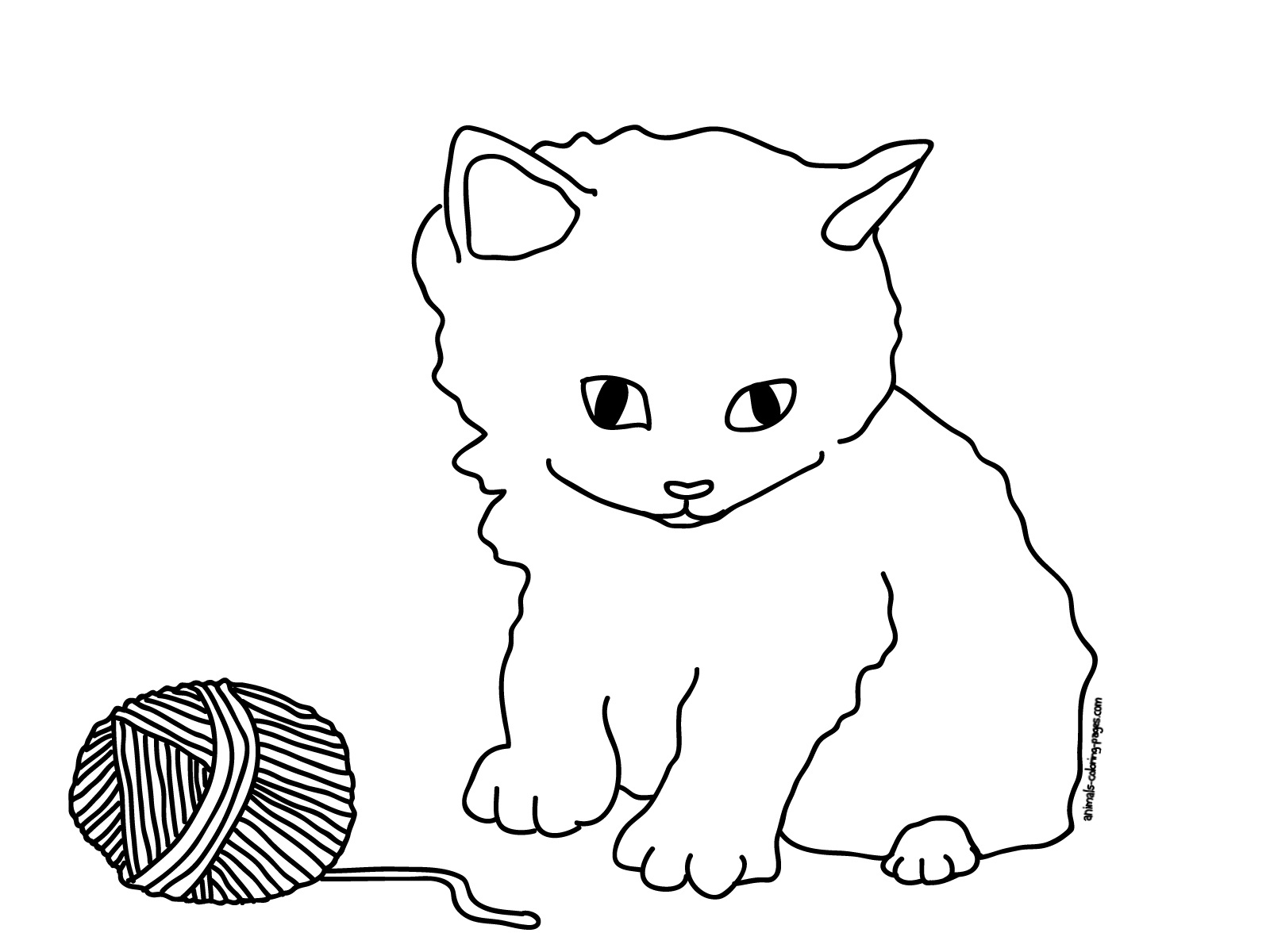 Kitty Cats Coloring Pages Contegri