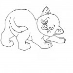 Kitty Cat Coloring Pages Photo