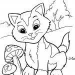 Kitty Cat Coloring Pages Picture