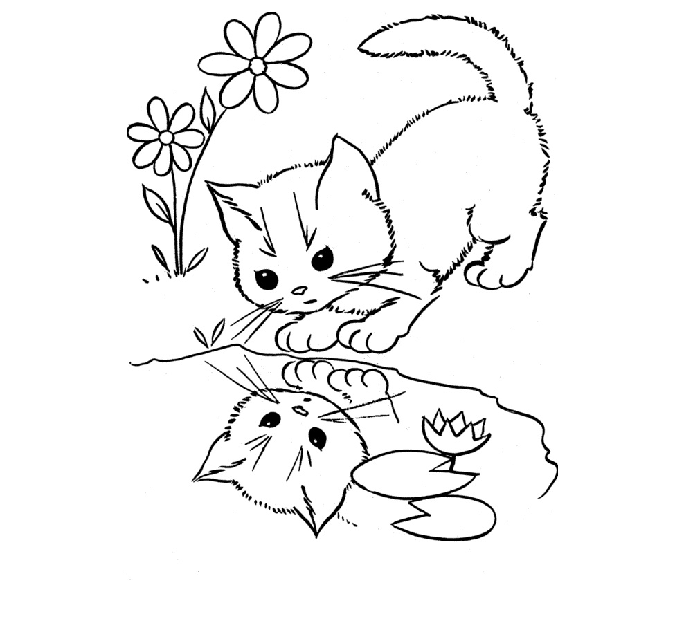 Coloring pages kitty cat - Kitty Cat Coloring Pages