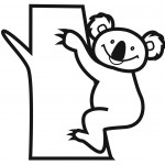 Koala Bear Coloring Page for Kids