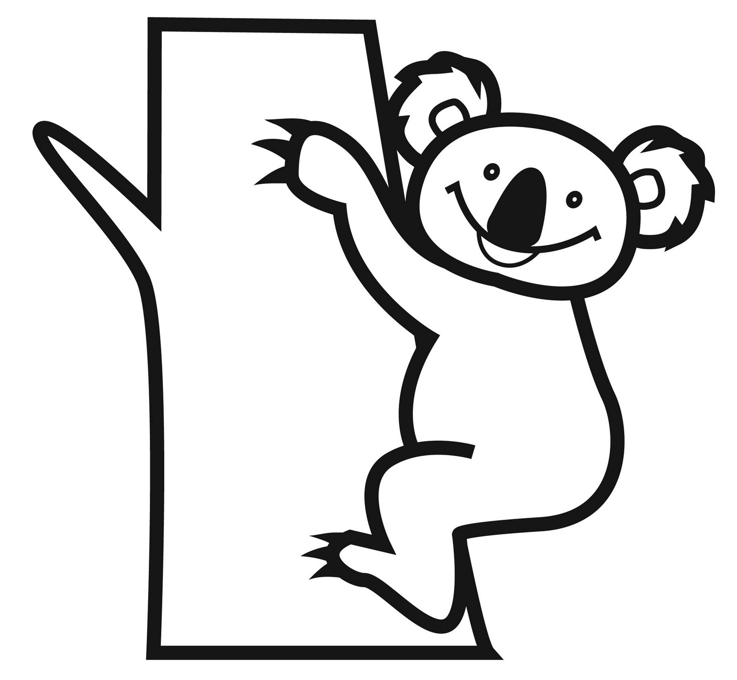koala bear coloring pages - photo#12