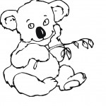 Koala Coloring Page for Kids Images