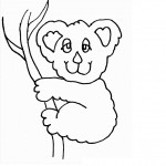 Koala Coloring Page for Kids Photos