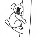 Koala Coloring Pages for Kids Image