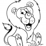 Lion Coloring Page Image