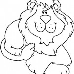 Lion Coloring Page Photo