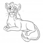 Lion Coloring Page for Kids Photos
