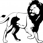 Lion Coloring Page for Kids Pictures