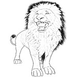 Lion Coloring Pages Photo