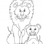 Lion Coloring Pages for Kids Photos
