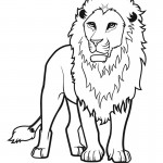 Lion Coloring Pages for Kids Picture
