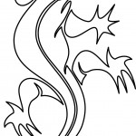 Lizard Coloring Page Pictures