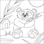 Panda Coloring Page for Kids Pictures