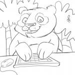 Panda Coloring Pages Photo