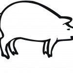 Pig Coloring Page for Kids Image