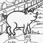 Pig Coloring Page for Kids Images