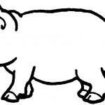 Pig Coloring Page for Kids Picture