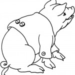 Pig Coloring Page for Kids Pictures
