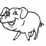 Pig Coloring Pages Photo