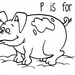 Pig Coloring Pages for Kids Photo