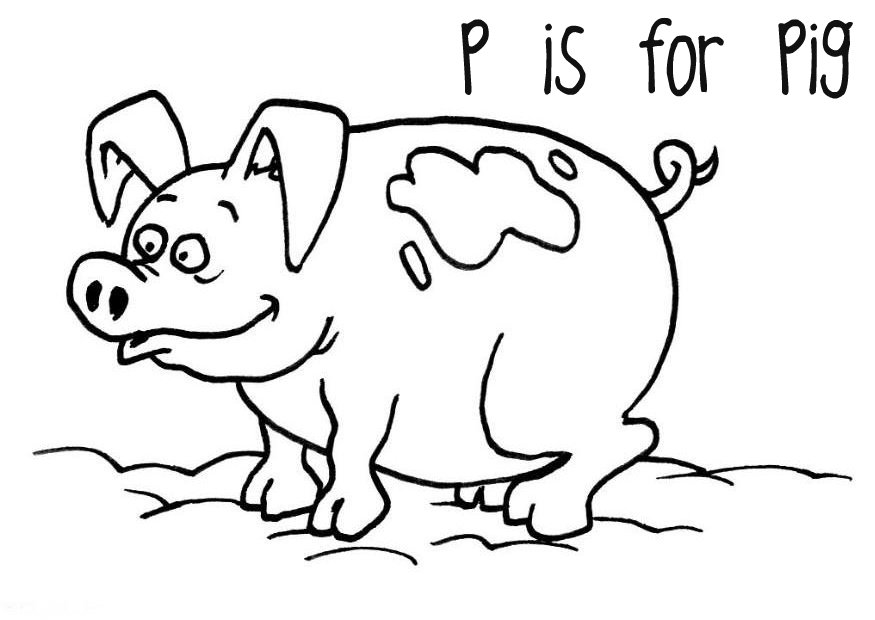 free printable pig coloring pages for kids   animal place - Pigs Coloring Pages