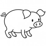 Pig Coloring Pages for Kids Picture