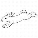 Rabbit Coloring Page for Kids Photo