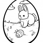 Rabbit Coloring Page for Kids Photos