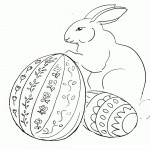 Rabbit Coloring Page for Kids Picture