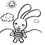 Rabbit Coloring Pages Image