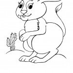 Rabbit Coloring Pages for Kids Images