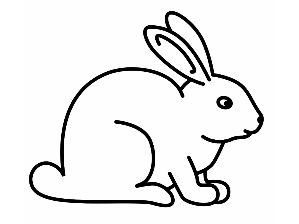 Free printable rabbit coloring pages for kids animal place for Coloring book pages for toddlers