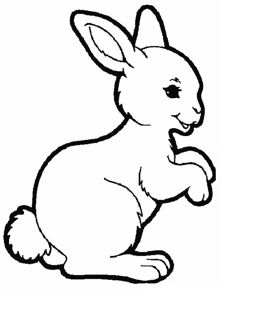 Free printable rabbit coloring pages for kids animal place for Rabbit coloring pages