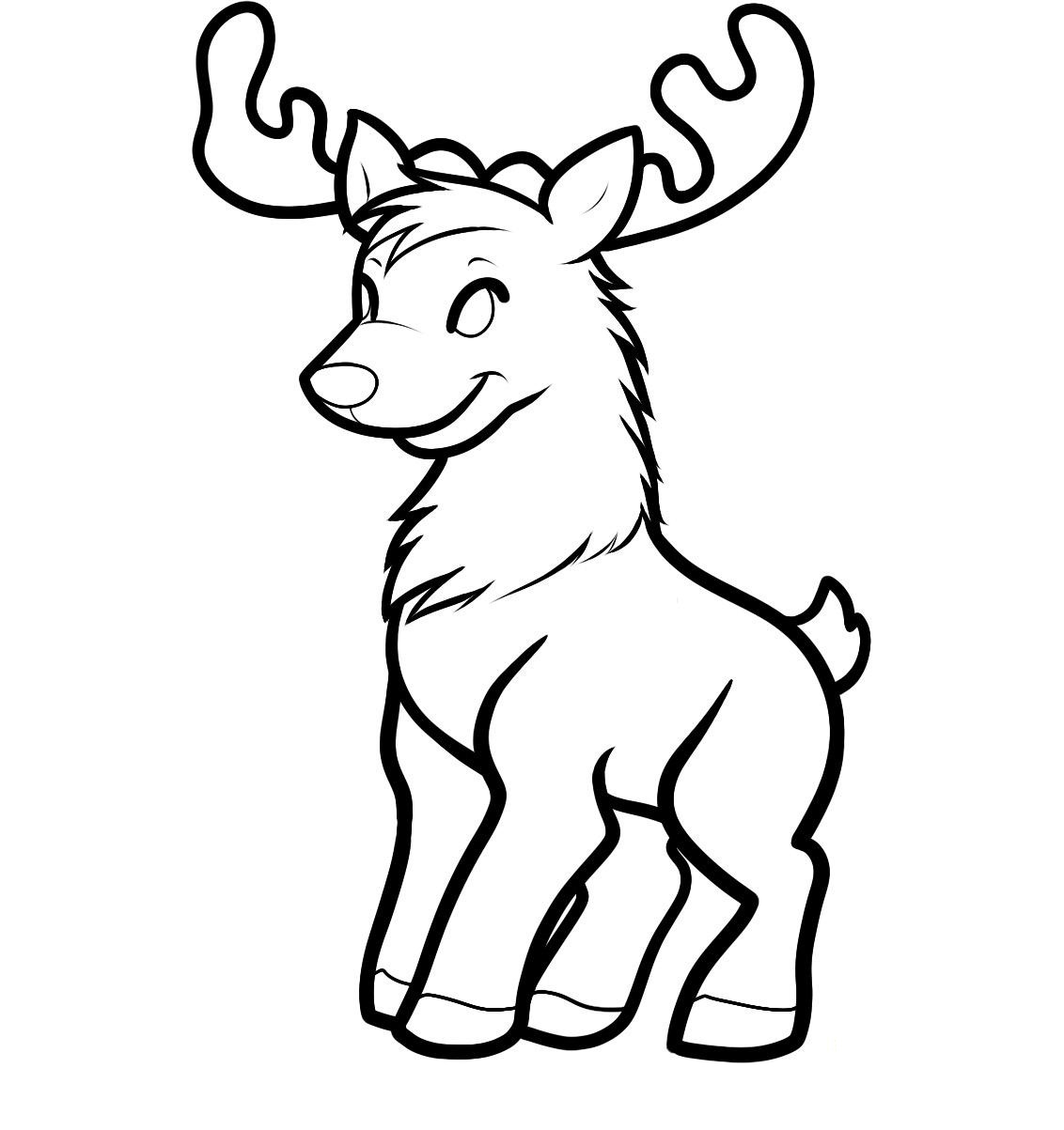 free printable reindeer coloring pages for kids animal place