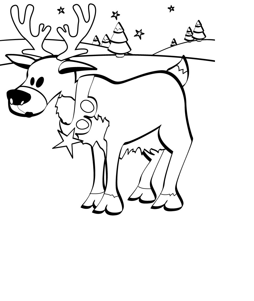Free Printable Reindeer Coloring Pages For Kids | Animal Place