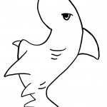 Shark Coloring Page Photo