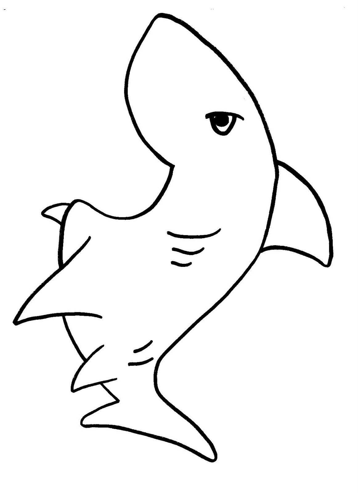 Free printable shark coloring pages for kids animal place for Free printable shark coloring pages