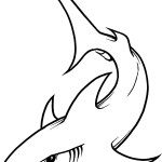Shark Coloring Page for Kids