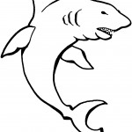 Shark Coloring Pages for Kids Picture