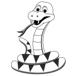 Snake Coloring Page for Kids Photo