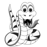 Snake Coloring Page for Kids Picture