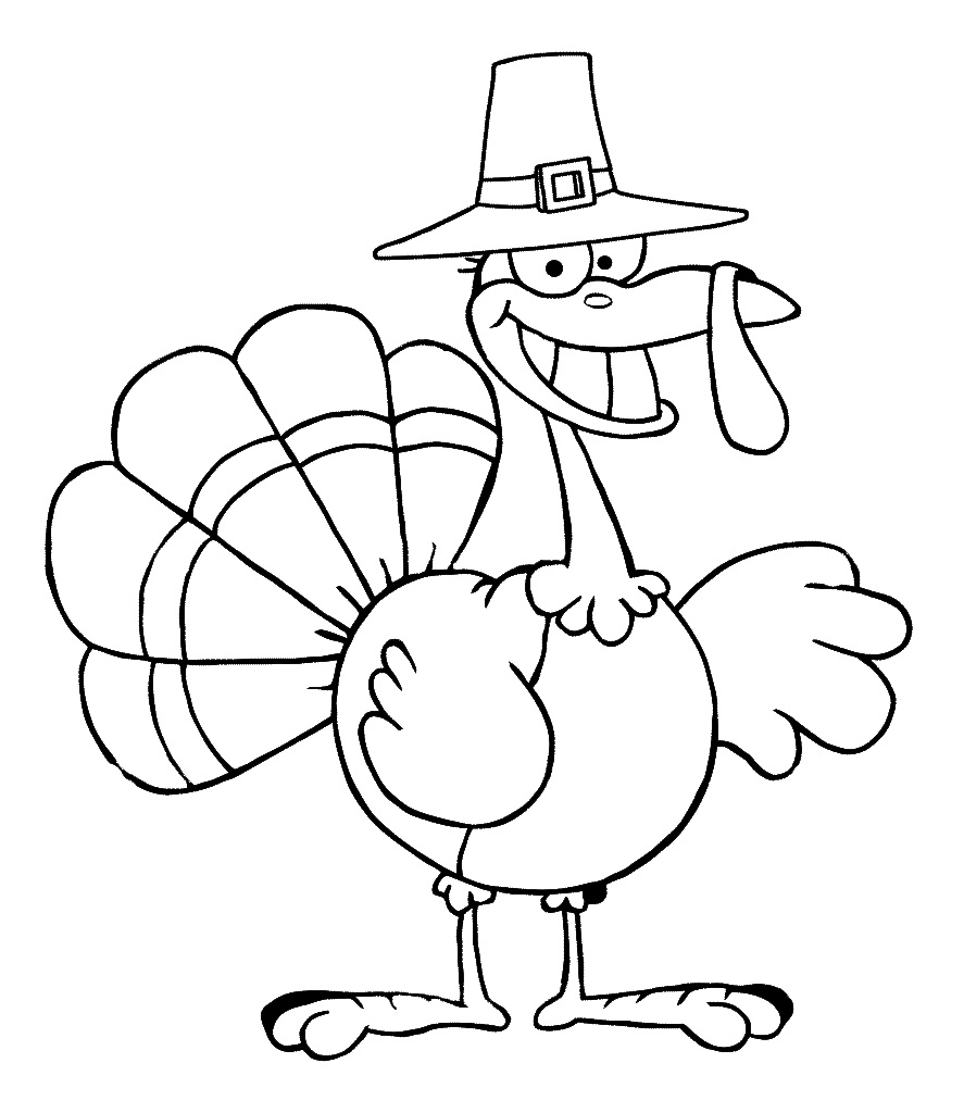 Free printable turkey coloring pages for kids animal place for Thanksgiving coloring pages already colored