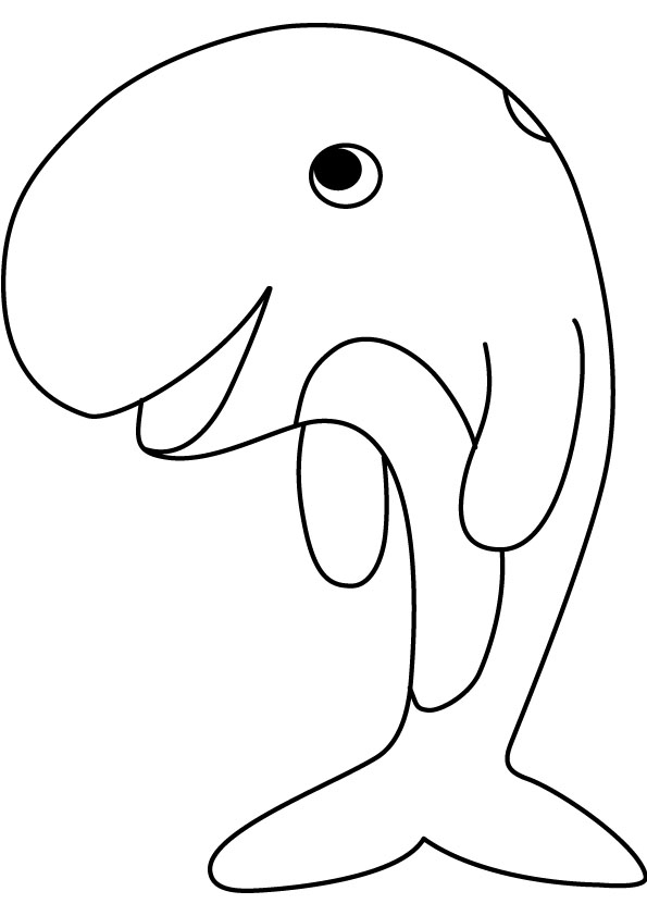 free printable whale coloring pages for kids - Whale Coloring Pages