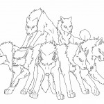 Wolf Coloring Page for Kids Images
