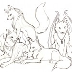 Wolf Coloring Page for Kids Photo