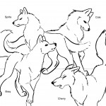 Wolf Coloring Page for Kids Picture