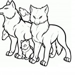 Wolf Coloring Page for Kids Pictures