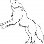Wolf Coloring Pages for Kids Picture